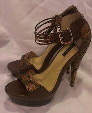 Rachel Zoe Platform Leather Snake Scale High Heel Size 8 M $325 At Nordstrom