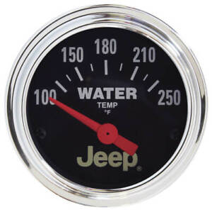 "AUT880241 Autometer 880241 Jeep Water Temperature Gauge, 2-1/16"", 250 F,"