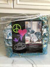 Steve Madden 10 Piece Full/Queen Comforter Set Turquoise Damask