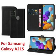 For Samsung Galaxy A21S Leather Wallet Flip Book Case Cover Pouch with Pocket