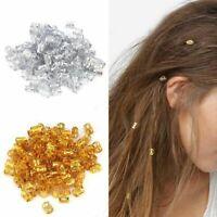 100 Pcs Hair Braid Pins Ring Dreadlocks Cuff Clips For Hair Extension Cute Hot