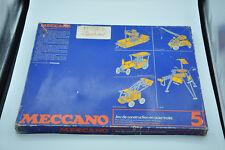 Ancien jeu de MECCANO n° 5 nombreuses pièces notices collection jouet