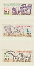 Tschechoslowakei 1981, 2635-2637**, Tiere, 50 Jahre Prager Zoo