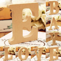 10cm Free Standing Smooth Wooden 26 Letters A-&-Z Alphabet Wedding Party Decor