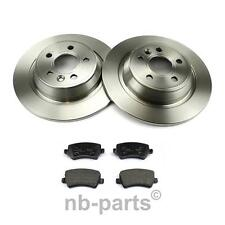 Brake Discs + Brake Pads Rear 302 FORD GALAXY S-MAX with Electric Handbrake