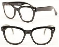 Nerd Brille  Retro Streber Hornbrille Bold schwarz  Klarglas Damen o. Herren 268