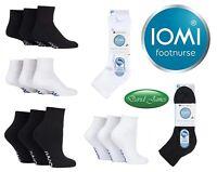 3 Prs Ladies IOMI SockShop Extra Wide Diabetic ANKLE Socks Swollen Legs 8 Sizes