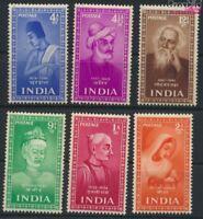 Indien 221-226 (kompl.Ausg.) postfrisch 1952 Heilige (9137568