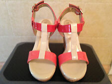 Croft & Barrow Womens Coral Wedge High Heels Size 6.5 NEW.
