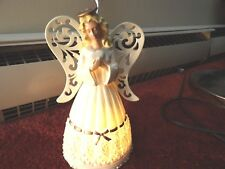 """Angel lights works 7 1/2"""" tall figurine excellent condition"""