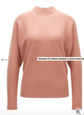 Hugo boss PURE CASHMERE Relaxed-fit ribbed sweater