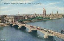 """London Westminster palace and lambeth bridge Valentine's """"valesque"""" G 5707"""