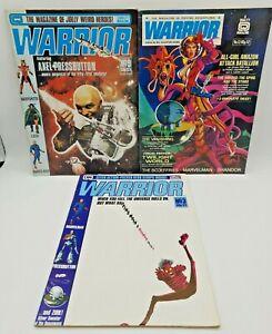 3 x Vintage Warrior Comic Books UK 1982. Quality. Skinn. Alan Moore