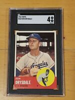 1963 Topps #360 Don Drysdale SGC 4 Newly Graded PSA