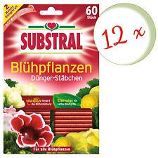 Sparset: 12 x SCOTTS Substral® Dünger-Stäbchen für Blühpflanzen, 60 Stück