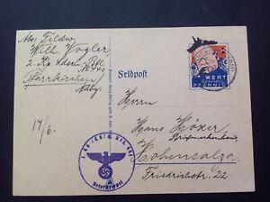 German Fieldpost Card CHURCHILL, 17 June 1942.