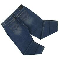 Harley Davidson Mens Straight Leg Jeans Sz 42 x 30 (42 x 28) Medium Denim Cotton