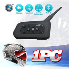 1 X 1200M BT Interphone Bluetooth Motorcycle Helmet Intercom Headset 6 Riders
