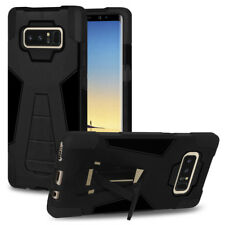 AMZER Black Dual Layer Rugged Hybrid Case Stand For Samsung Galaxy Note8 6.3""