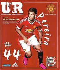 MANCHESTER UNITED v MIDDLESBROUGH League Cup 4th Round 2015/16 MINT