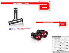 MANOPOLE ARGENTO + CONTRAPPESI B-LUX ROSSI + ADATTATORI per YAMAHA T-MAX 500