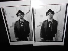 2 photo postcards ICE-T, 1996, photograph by Chris Cuffaro