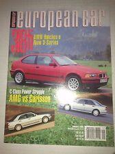 European Car Magazine 318ti BMW & C Class AMG January 1995 042217nonrh