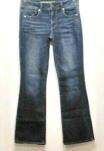 "Womens-AMERICAN EAGLE-SIZE 12 -Super Stretch-Denim Jeans-Mid Rise-Waist 30"""