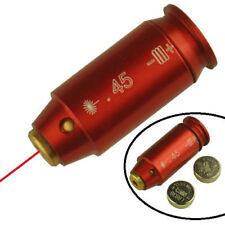 .45 ACP Red Aluminum Laser Bore Sighter Boresight For Pistol USA Seller