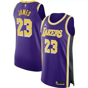 Men's Authentic Lebron James Jordan 2020 Statement Lakers Jersey Size 52 XL