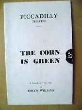 Theatre Programme- Sybil Thorndike,E Williams in THE CORN IS GREEN