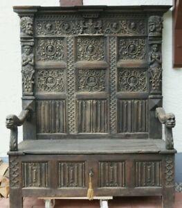 Antike Renaissance Truhenbank um 1650 AD aus Adels Besitz