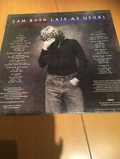 Sam Brush - Late as Usual Vinyl Lp Rounder Records Import Mint Bluegrass Rare Lp