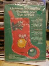 Christmas Stocking Crewel Embroidery Kit Mouse With Ornaments Design