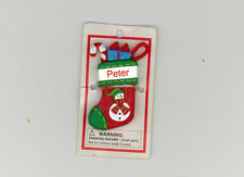 Itsy Bitsy Stocking Ornament ~ PETER ~ Snowman ~ Stocking Stuffer ~ New