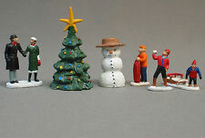LIONEL CHRISTMAS PEOPLE PACK FIGURES O GAUGE pewter metal snow man tree 6-37852