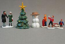 LIONEL CHRISTMAS PEOPLE PACK FIGURES O GAUGE pewter metal snow man tree 6-37852