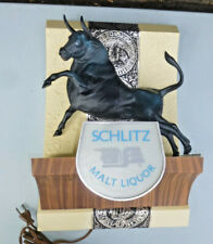 Rare Vintage Schlitz Malt Liquor Bull 3D Lighted Sign Vintage 1968