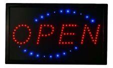 "Large Led Light Open Sign 22""x13"" Business Motion Light Open Sign On/off Swit."