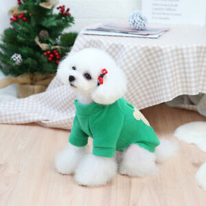 Pet Christmas Style Top Deer Cartoon Printed Sweater Skirt Puppy Clothes Apparel