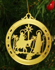 Personalized Nativity High Polished Brass Christmas Ornament Custom Gift
