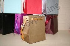 EXTRA SMALL GOLD PAPER GIFT BAGS PK OF 10 HANDMADE