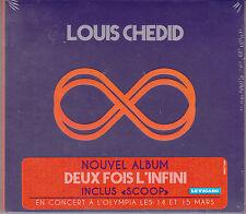 CD DIGIPACK 16T LOUIS CHEDID DEUX FOIS L'INFINI DE 2013 NEUF SCELLE