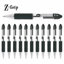 Zebra Z-Grip Mini Retractable Ballpoint Pens - Black Ink - Pack of 12