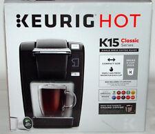Keurig K15 Single Serve Compact K-Cup Pod Coffee Maker, Black, NEW