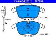 Bremsbelagsatz, Scheibenbremse für Bremsanlage Vorderachse ATE 13.0460-7252.2