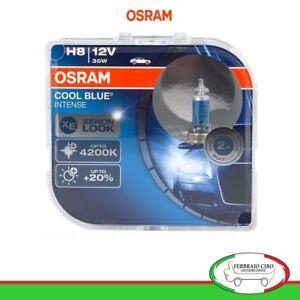 Coppia Lampade Osram 64212CBI H8 12V 35W Cool Blue Intense 4200K +20% Di Luce