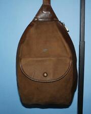 ELLINGTON Brown Leather Nubuck Small ERGO Sling Cross-body TRAVEL Purse Bag
