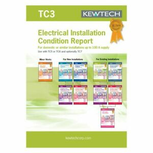 Kewtech TC3 Electrical Installation Condition Report for up to 100a Supply