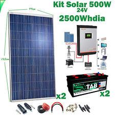 Kit Solar 24v 500w Inversor 3kva MPPT 60A Híbrido Batería Monoblock TAB 245Ah